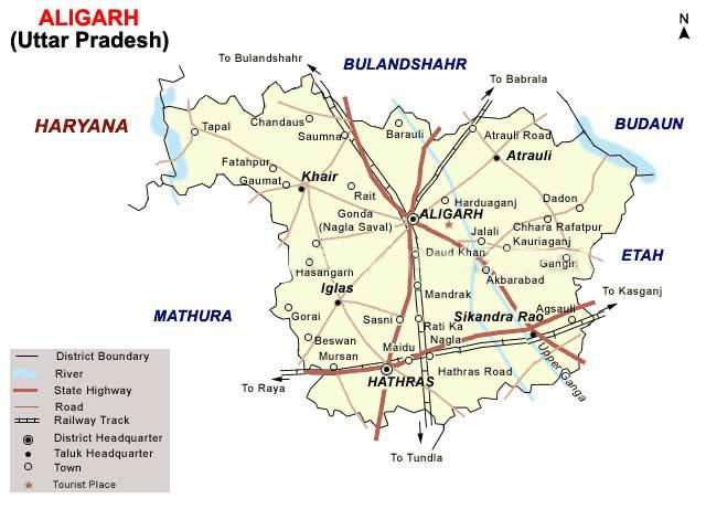 Aligarh Map - Aligarh Directory: www.aligarhdirectory.com/aligarh-map