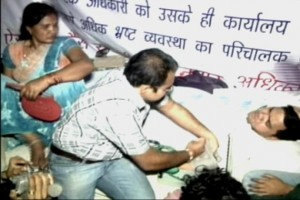 Packed off to Aligarh, PCS officer resumes dharna